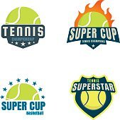 tennis logo set,championship,tournament,decal,vector illustratio