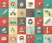 Winter Activity Flat Icon Collection