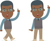 Intelligent and Clever Character African American Teacher visite