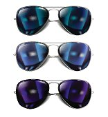 Mirror Sunglasses Set. Bector Illustration