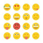 Set of Emoticons. Emoji.