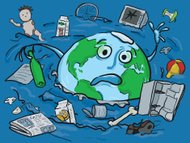 The earth drowning in Rubbish