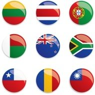 World Flag Buttons