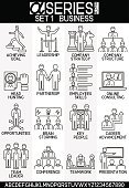 Set of Busines icons leadrship