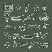 icon set for February 23 - Army icons