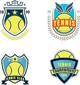 tennis  set,championship,tournament,decal,vector illustratio