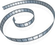 Film strip on white