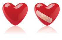 Heart with band-aid VECTOR