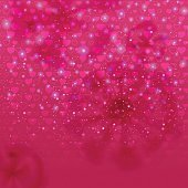 Abstract background with hearts and lights