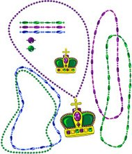 Mardi Gras Bead Pack with Royal Crown