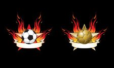 flaming soccer emblems
