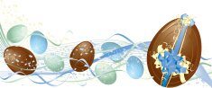 Blue and Green Chocolate Easter Egg Banner