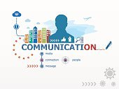 Communication concept and business man.