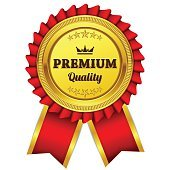 Premium Quality Red Seal Vector Icon