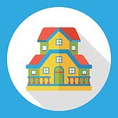 building structure flat icon