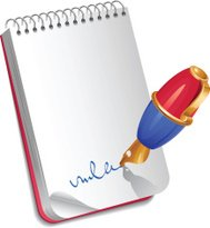 Pen with notebook