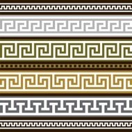 Set of greek geometric borders