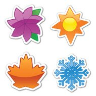 Glossy Four Season Stickers