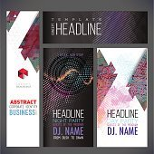 Banners vector template, brochure, element, page, leaflet