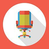 office chair flat icon