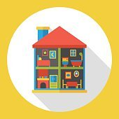 doll house flat icon