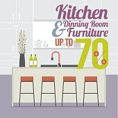 Kitchen Room Sale Up to 70 Percent Banner.