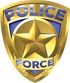 Police Force Gold Badge