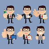 Set of businessman