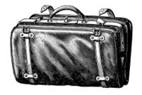 Vintage Clip Art and Illustrations | Suitcase