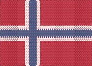 Knitted Flag - Norway
