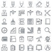 Thirty six office tools icon set