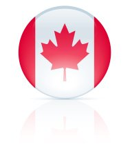 Glossy Canadian Flag Button