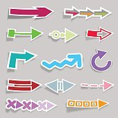 Flat Arrow Stickers Collection