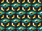 Abstract geometric isometric vector seamless pattern background