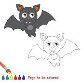Vampire bat cartoon. Page to be colored