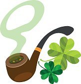 Pipe with four-leaf clover.