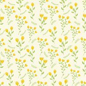 seamles pattern flowers vector