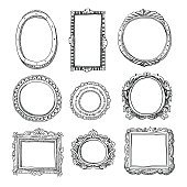 Vector hand-drawn frames