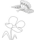 flower and butterfly pattern