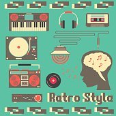 Music Retro Devices Style