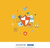 Social network security and data protection. Investment security.
