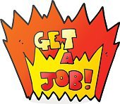 cartoon Get A Job symbol