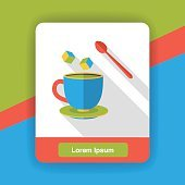 coffee drink flat  icon