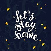 Let's stay home poster.
