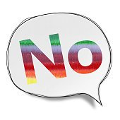 No - Speech Bubbles (Clipping Path)