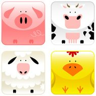 Farm animals - icon set 1