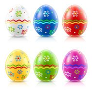 easter eggs with traditional ornament