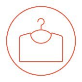 Sweater on hanger line icon