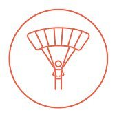 Skydiving line icon
