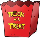 cartoon trick or treat bag